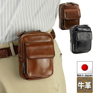 ベルトポーチ 牛革 さらに特典付き オイルヌメ革 豊岡の鞄 日本製 メンズ 25760 さらに特典付き 特選|crescent