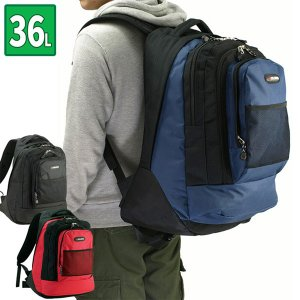 リュックサック 幅54cm 約36L ブラック 黒 ビジネス 通勤用 営業用 仕事用 キャンバス ママバッグ 鞄 カバン かばん バッグ 42514|crescent