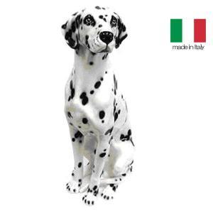 イタリア製 陶器 置物 犬 ダルメシアン  置き物|crescent