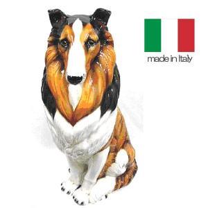 イタリア製 陶器 置物 犬 コリー  置き物|crescent