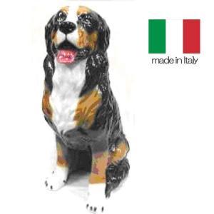 イタリア製 陶器 置物 犬 バーニーズ・マウンテン  置き物|crescent