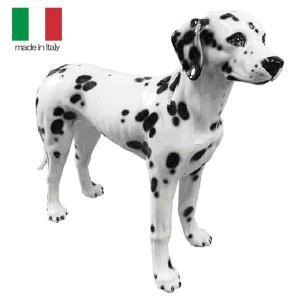 イタリア製 陶器 置物 犬 ダルメシアン  置き物 crescent