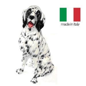イタリア製 陶器 置物 犬 セッター  置き物|crescent