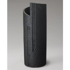信楽焼 傘立て ブラックスパイラル傘立 信楽焼き/滋賀県 日本の代表的な伝統工芸品|crescent