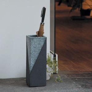 信楽焼 傘立て ツートン角型傘立 信楽焼き/滋賀県 日本の代表的な伝統工芸品|crescent