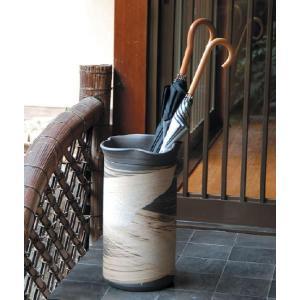 信楽焼 傘立て いぶし刷毛目傘立 信楽焼き/滋賀県 日本の代表的な伝統工芸品|crescent