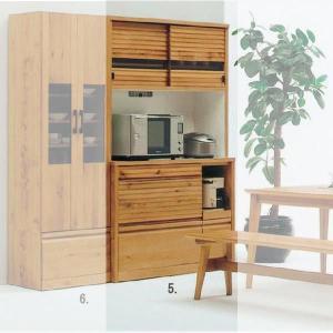 食器棚 キッチンボード 天然木 ホワイトオークの落ち着いた スライド オープン 幅140cm SSROK|crescent
