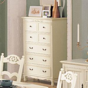 白家具 5段チェスト アウトレット特価  GSR  輸入家具|crescent