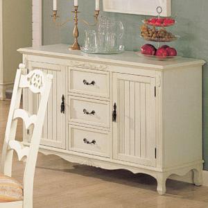 白家具 サイドボード 幅120cm アウトレット特価 輸入家具 crescent