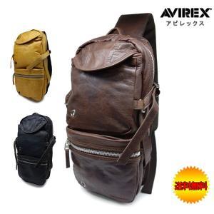 ボティバッグ AVIREX レザー ショルダーバッグ|crescent