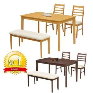 ダイニングセット 4点 ダイニングテーブル+ベンチ+チェア 食卓セット GMK 特選|crescent