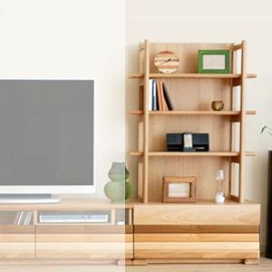 テレビ台 北欧 寄木無垢材 Lシェルフ80 幅80 テレビ台 ローボード m082- SOK  開梱設置送料無料|crescent
