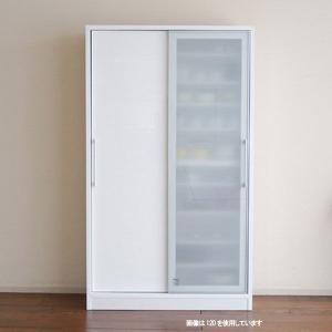 食器棚 光沢の有る 鏡面仕上げ 大型スライドドアダイニングボード 100幅 奥行45 Bernex(ベルネ)食器棚 SOK 食器棚 開梱設置送料無料 m082-|crescent