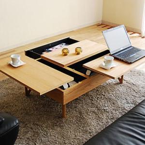 リビングテーブル 幅110cm?134cm ローテーブル センターテーブル モダン  デュエ 北欧 昇降式 リフトアップ式 m082- GMK|crescent