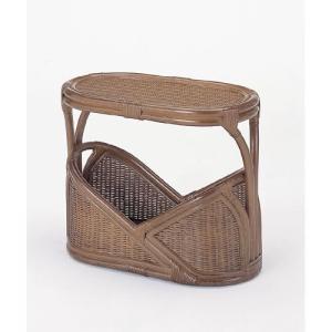 籐マガジンラック テーブル 籐家具 アジアンテイスト|crescent