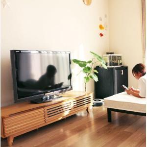 テレビ台 ローボード 幅150cm 格子 タモ材 和風モダン .ルーバー リビングボード GMK-tv 特選|crescent
