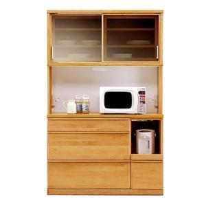 スライドキッチンボード アルダー無垢材 モイス moiss 仕様 食器棚 120幅  O型 スライド扉|crescent