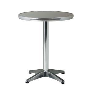 アルミテーブル アルミ製テーブル 屋外使用可能 丸テーブル 円形 幅60cm ダイニングテーブル  t002-m040- 限界|crescent