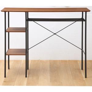 カウンターテーブル 机 バーテーブル 幅120cm 天然木 ウォールナット  【】 t002-m048-atm-ktb 【メーカー直送】 crescent