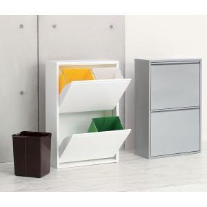 4リサイクルビン 分別タイプ 16リットル×4 幅60 高さ92cm リビングやキッチンに最適 ダストボックス BOX ゴミ箱 分別|crescent