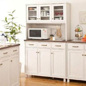 食器棚 幅105cm 高さ180cm ハイカウンター K-105HOP ANELA アネラ シリーズ カントリー 白家具 GYHC|crescent