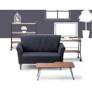 コンパクトな折脚 リビングテーブル 棚付き センターテーブル 幅90cm ウォールナット ローテーブル|crescent