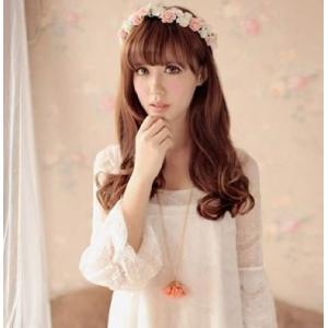 TRADISH女の子憧れの ロマンチックな お花の 冠 結婚式 写真撮影などにも (オールタイプ)