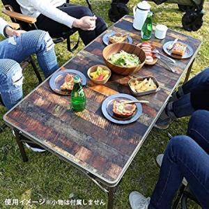 クイックキャンプ アウトドア 折りたたみテーブル 120×60cm 収納袋付き ヴィンテージライン