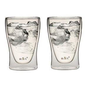 Hurex 耐熱ダブルウォールグラス 220ml 2個セット[HU-M6157*2]の商品画像|ナビ