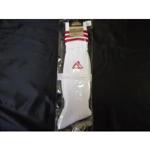 adidasアディダス サッカーソックス 22-24cm ホワイト/レッド R0082|crescentsports