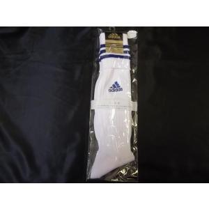 adidasアディダス サッカーソックス 22-24cm ホワイト/ブルー R0082|crescentsports
