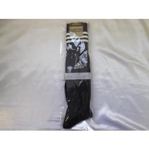 adidasアディダス サッカーソックス 22-24cm ブラック/ホワイト R0082|crescentsports