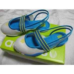 adidasアディダス キッズサンダル ホワイト/水色 G10281|crescentsports