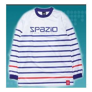 SPAZIOスパッツィオ ロングスリーブプラクティスシャツ GE0166 83ホワイト×ネイビー|crescentsports