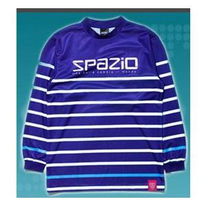 SPAZIOスパッツィオ ロングスリーブプラクティスシャツ GE0166 84ネイビー×ホワイト|crescentsports