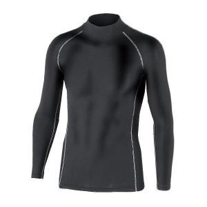 おたふく手袋 BODY TOUGHNESSパワーストレッチ ハイネックシャツ ブラック JW-170|crescentsports