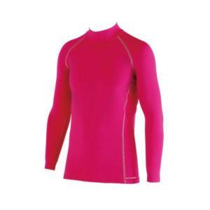 おたふく手袋 BODY TOUGHNESSパワーストレッチ ハイネックシャツ ピンク JW-171|crescentsports