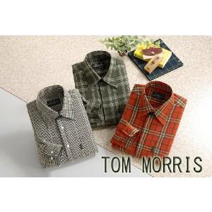 TOM MORRIS トム・モリス ウオッシャブルウール混カジュアルシャツ(代引不可)|cresco