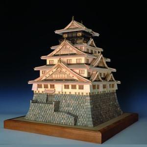 ウッディジョー 木製模型 大阪城 天守閣 1/150 豊臣秀吉 (代引不可)