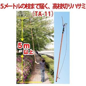 5メートルの枝まで届く、 高枝切りハサミ TA-11 cresco