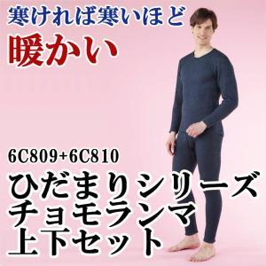 健康肌着 ひだまりシリーズ チョモランマ 上下セット(長袖丸首+ズボン下6C809+6C810) 代引不可|cresco