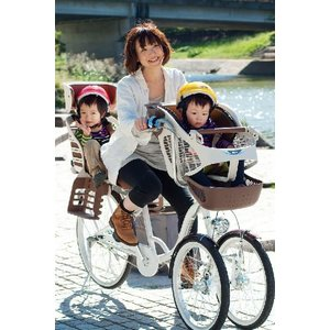 3人乗り三輪自転車 バンビーナ チャイルドシート付  MG-CH243W(代引不可)|cresco