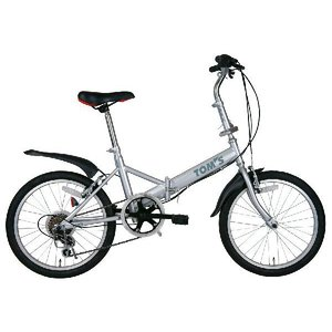 ミムゴ トムス 20インチ折畳自転車 6段ギア付 MG-TO206(代引不可)|cresco