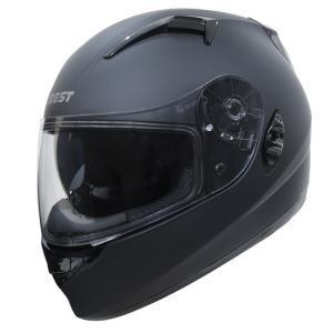 クレスト  ワンタッチインナーバイザー付きフルフェイスヘルメット NINJA ニンジャ シングルカラー|crest1