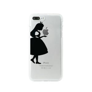 スマホケース Dparks(ディーパークス) iPhone7/8 Plus専用 ソフトクリアケース シルエットアリス DS9086i7Pの商品画像|ナビ