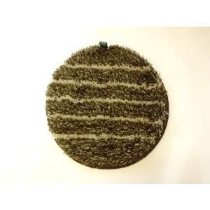 洗えるチェアパッド丸(ブラウン) シートパッド|crococko
