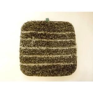 洗えるチェアパッド角(ブラウン) チェアシート|crococko