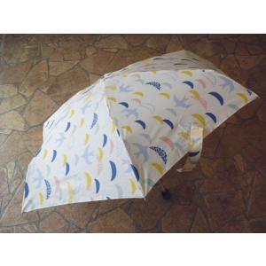 トートバッグ ソアリングバード折りたたみ雨傘(ホワイト)|crococko