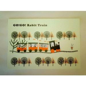 ShinziKatoh ポストカード(rabbit train)|crococko