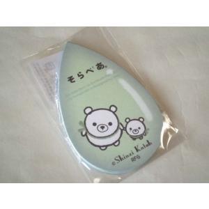MGC01011 【Shinzi Katoh】ミニグリーティングカード MINIGREETINGCARD かわいい ギフト そらべあ くまの親子 アザラシ 海 点線あり(裏) 水色 涙型 sorabearの商品画像|ナビ